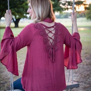 Tops - Lace-up Top